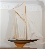 Sale 8990H - Lot 26 - A fully rigged model of Columbia, Total Length 117cm, Height approx 130cm