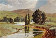 Sale 8992 - Lot 582 - Victor R. Watt (1886 - 1970) - Stream Near Scone, Hunter Valley 18 x 26.5 cm (frame: 27 x 36 x 3 cm)