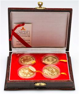 Sale 9156 - Lot 259 - Cased set of four Chinese replica medals