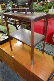 Sale 8117 - Lot 969 - Tiered Occasional Table w Piano Stool