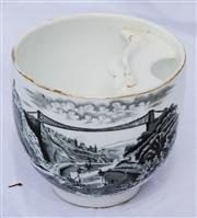 Sale 8319 - Lot 220 - Victorian moustache cup featuring Clifton Suspension Bridge