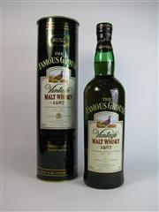 Sale 8340A - Lot 911 - 1x 1987 The Famous Grouse Vintage Malt Whisky - 40% ABV, 700ml in canister