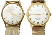 Sale 8426 - Lot 487 - TWO WALTHAM GENTS WRISTWATCHES; one automatic with applied markers, centre seconds on a 17 jewell movement, other applied markers,...