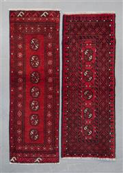 Sale 8499C - Lot 90 - 2 x Afghan Turkman 145cm x 54cm