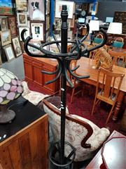 Sale 8676 - Lot 1052 - Black Timber Coat Stand