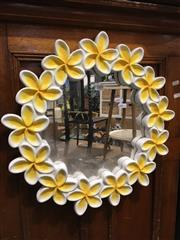 Sale 8795 - Lot 1085 - Timber Flower Form Mirror