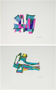 Sale 8961 - Lot 2010 - Lyndon Dadswell (1908-1986) (2 works) - Studies for Sculpture no.219 & no.220, 1977 27 x 37.5cm, each