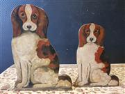 Sale 9009 - Lot 1014 - Pair of Hand Painted Hound Cutouts (h:60cm)