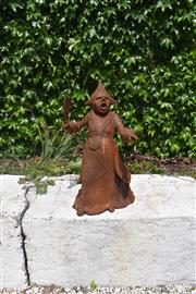 """Sale 9087H - Lot 210 - A cast iron statue of the """"Queen of hearts"""" from Alice in Wonderland. 73cm height"""