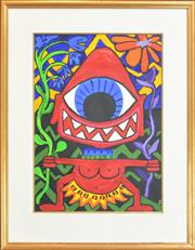 Sale 8282A - Lot 74 - Kim Yesters (XX) - Tribal Cyclops 70 x 50cm
