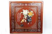 Sale 8393 - Lot 87 - Chinese Timber Jade & Stone decorated Panel