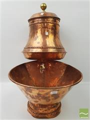 Sale 8439F - Lot 1868 - Vintage French Copper Water Fountain (H 57 x W 36cm)