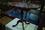Sale 8566 - Lot 1716 - Timber Occasional table with Pie Crust Edge