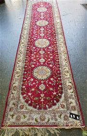 Sale 8566 - Lot 1734 - Pink and Cream Tone Hall Runner
