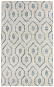 Sale 8651C - Lot 61 - Colorscope Collection; Flatweave Bamboo Silk and Cotton - Blue Geo Rug, Origin: India, Size: 160 x 230cm, RRP: $599