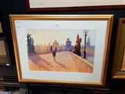 Sale 8671 - Lot 2008 - Artist Unknown Charles Bridgem Prague watercolour, 30 x 40cm, initialled CCW lower right -