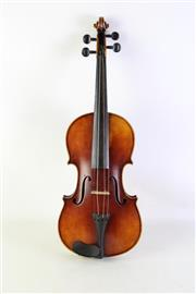 Sale 8940 - Lot 76 - A Cased Violin and Bow with Contents (Some Losses)
