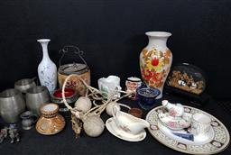 Sale 9254 - Lot 2345 - A large collection of sundries incl silver plated wares, cased headpiece and others