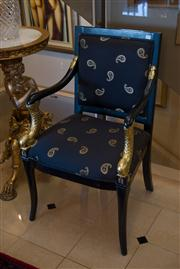 Sale 7984 - Lot 23 - Versace style armchair in black and gold