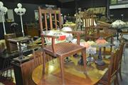 Sale 8165 - Lot 1045 - Set of 6 Carved Back Dining Chairs