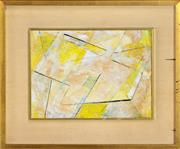 Sale 8325 - Lot 555 - Frank Hinder (1906 - 1992) - Yellow/White, 1971 20 x 27cm