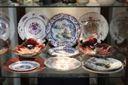Sale 8360 - Lot 121 - Dresden Blue & White Plate with Others Incl Pierced Famille Rose Example