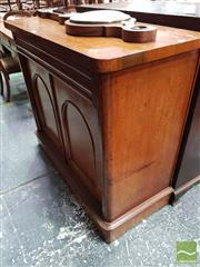 Sale 8485 - Lot 1026 - Late 19th Century Cedar Chiffonier, with frieze drawer, single shelf & two arched panel doors (H 102 x W 117 x D 51cm)