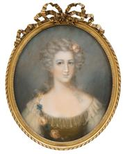 Sale 8538 - Lot 557 - Manner of Jean-Marc Nattier (1685 - 1766) - Courtesan 59.5 x 48cm