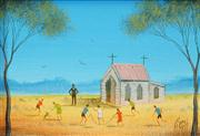 Sale 8526 - Lot 504 - Kym Hart (1965 - ) - Sunday School Playtime 11.5 x 16.5cm