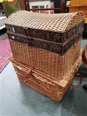 Sale 8676 - Lot 1062 - Two Wicker Baskets