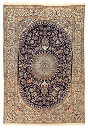 Sale 8800C - Lot 54 - A Persian Nain 100% Wool Pile And Silk Inlaid With Medallion, 287 x 200cm