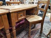 Sale 8912 - Lot 1041 - Timber Desk with Two Drawers & Chair (2)