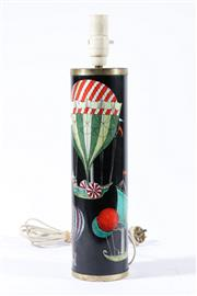 Sale 9010 - Lot 16 - A c1950s Fornasetti Palloni Lamp Base With Hot Air Balloon Design (H45.5cm)