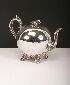 Sale 3650 - Lot 32 - A SILVER PLATED TEAPOT
