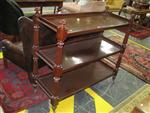 Sale 7918A - Lot 1119 - Victorian Mahogany Dumb Waiter, with turned reeded supports and three tiers.