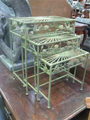 Sale 7933A - Lot 1139 - Green Wire Planters