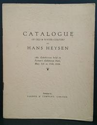 Sale 8176A - Lot 81 - Catalogue of Oils and Water-Colours by Hans Heysen. An Exhibition. 1926. Farmer & Co. Colour plus black and white tip-ins.