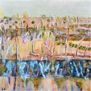 Sale 8365A - Lot 1 - Stanley Perl (1942 - ) - Trees in Landscape 76 x 76cm