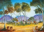 Sale 8492 - Lot 545 - Kevin Charles (Pro) Hart (1928 - 2006) - Horse Yards 29 x 39.5cm
