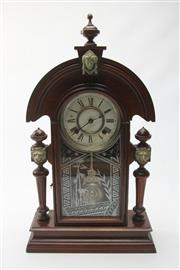 Sale 8673 - Lot 13 - American Timber Cased Mantle Clock