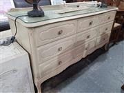Sale 8760 - Lot 1075 - Painted Bedroom Chest of Nine Drawers