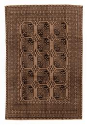 Sale 8800C - Lot 55 - An Afghan Tekke Hand Knotted Wool Rug, In A Hardy Weave Of Elephant Foot Design, 196 x 291cm