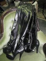 Sale 7926A - Lot 1765 - Two pairs of Mens size black high boots