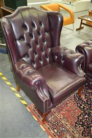 Sale 8165 - Lot 1013 - Pair of Classic Chesterfield Wingback Armchairs
