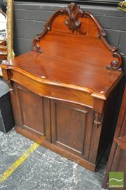 Sale 8291 - Lot 1016 - A Victorian Cedar Chiffonier with carved back, long drawer and two panel doors - restoration (key in office)