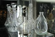 Sale 8322 - Lot 35 - Cut Crystal & Glass Decanters (4)