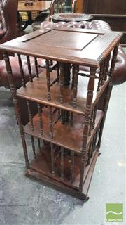 Sale 8375 - Lot 1034 - Unusual Early C20th Mahogany Ring-Turned Revolving Bookcase