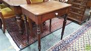 Sale 8402 - Lot 1012 - Victorian Single Drawer Side Table over Turned Legs