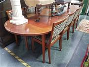 Sale 8601 - Lot 1056 - Vintage Nine Piece Parker Dining Suite inc Table and 8 Chairs