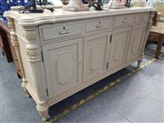 Sale 8744 - Lot 1080 - French Style Sideboard with 4 Drawers and 4 Doors